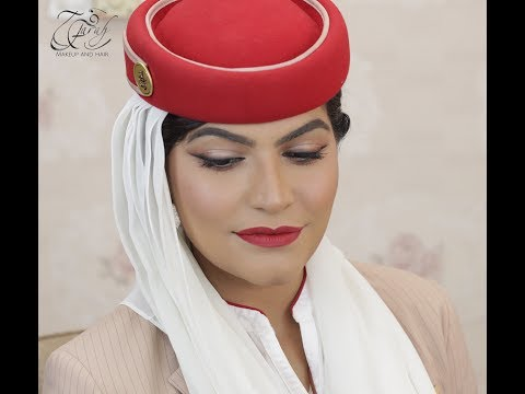 Emirates Air hostess Makeup tutorial 💋