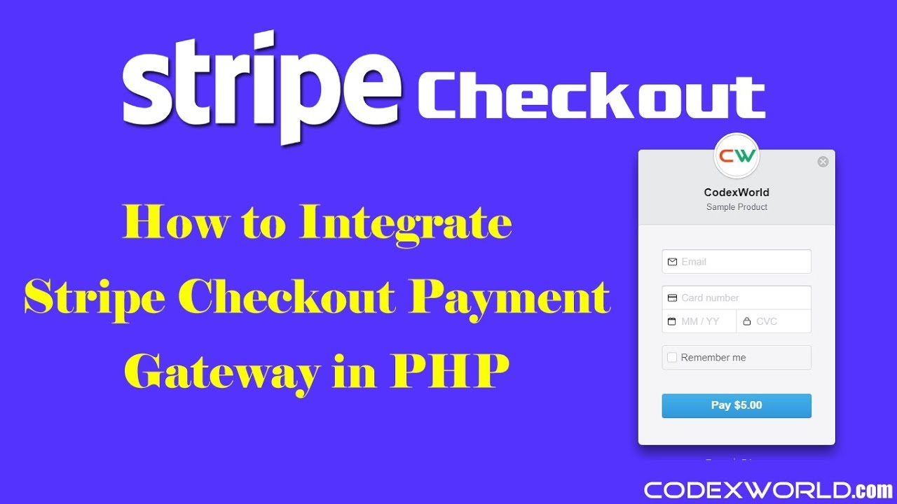 Stripe Checkout Integration in PHP - CodexWorld