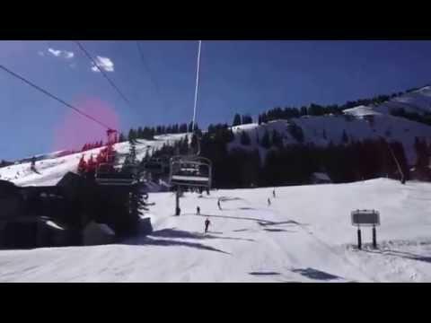 Riding the Colorado Superchair in Breckenridge