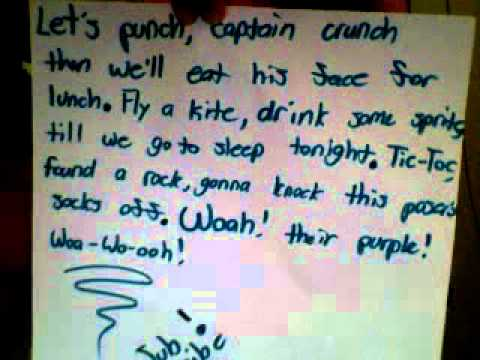 Captain Crunch Song/ Lyrics