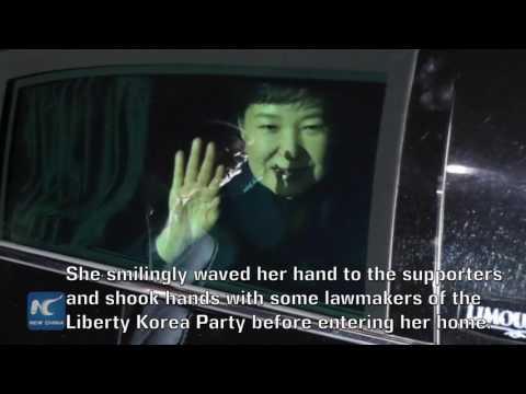 Ex-South Korean president Park leaves presidential office for private home