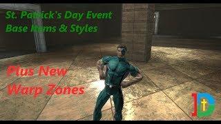 DC Universe Online Test Server St Patricks Day Event Styles & Base Items Plus New Warp Zones