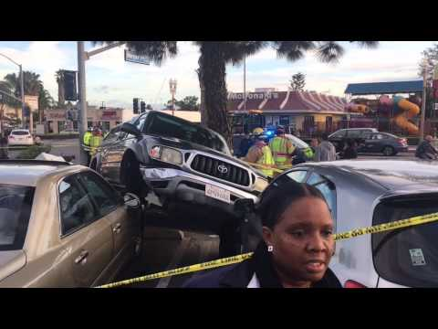 TEEN DRIVERS LICENSE TEST ENDS IN FIERY CRASH AT DMV!