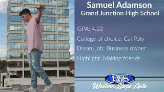 Western Slope Auto Student of the Week: Samuel Adamson