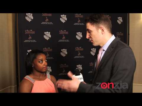 Simone Biles at the AAU Sullivan Awards @BTVRtv with @ArthurKade