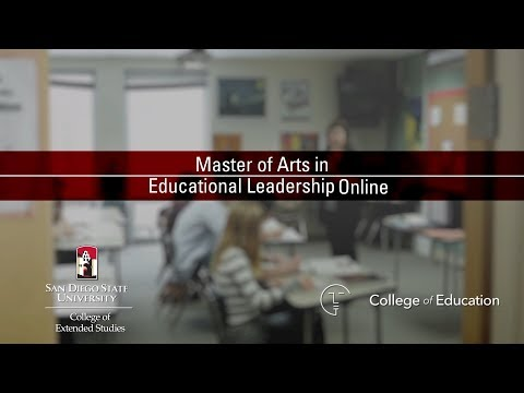 MA Educational Leadership   San Diego State University College of Extended Studies
