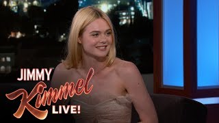 Elle Fanning Had Robert De Niro Over for Easter
