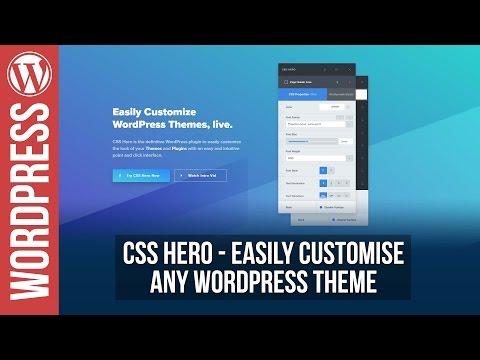 Customise ANY WordPress Theme with CSSHero - 동영상