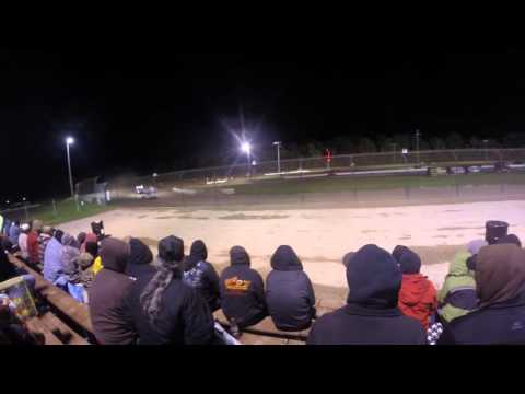 World of Outlaws Sprint Car Series @ Rolling Wheels Raceway Park (GoPro Head Cam) (10/10/15)