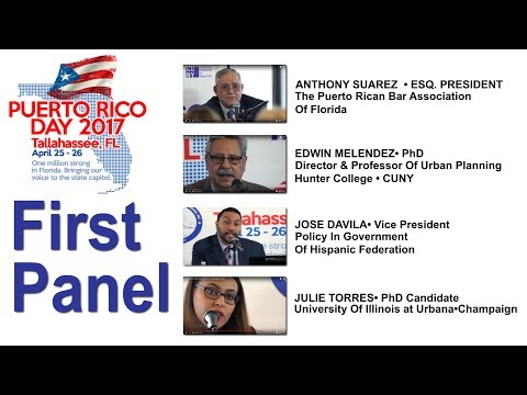 FIRST PANEL• PART 1•PUERTO RICO DAY 2017 • TALLAHASSEE FL