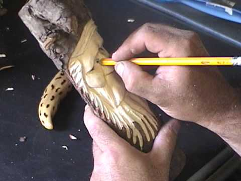 How to carve a wood spirit 9 wood carving tips youtube for How to slice wood
