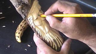How to carve a wood spirit 9