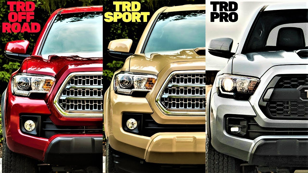 toyota tacoma trd pro vs trd off road vs trd sport the differences. Black Bedroom Furniture Sets. Home Design Ideas