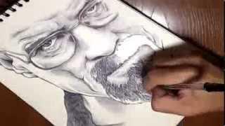 Dibujando a Walter White (Heisenberg) de Breaking Bad, Drawing Heisenberg of Breaking Bad