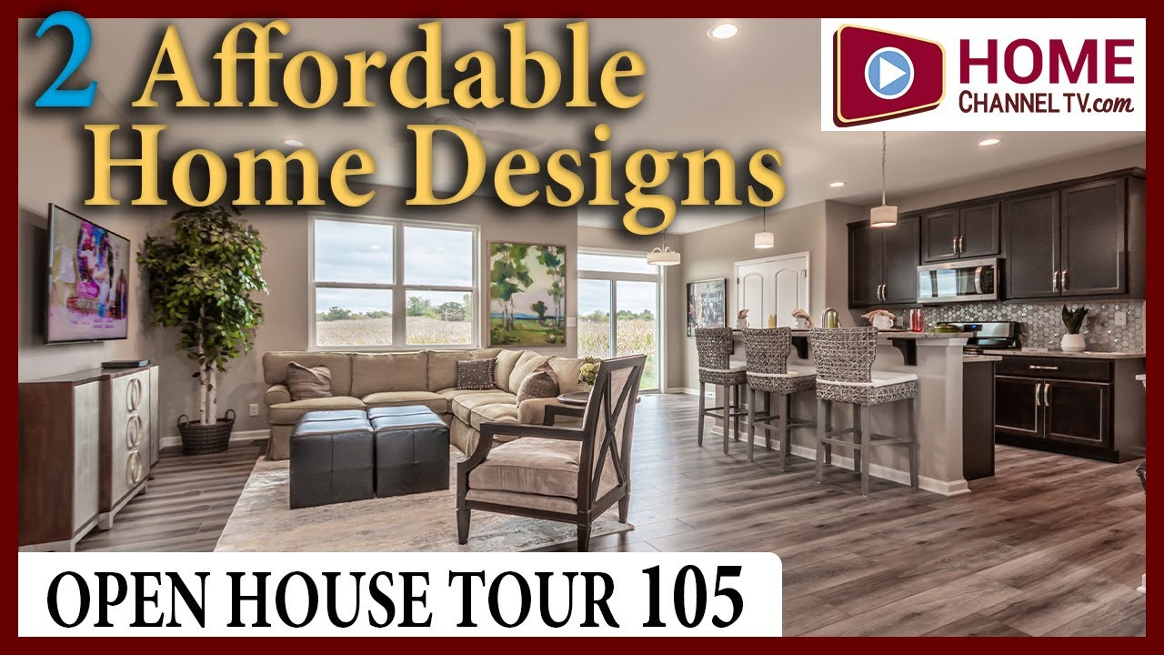 Open House Tour (105) - Touring 2 New Model Homes at a KLM Builders Community in Harvard IL