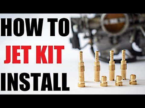 How to install a MOTORCYCLE JET KIT