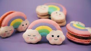 Pastel Rainbow Macarons 파스텔 레인보우 마카롱 만들기ㅣSUGAR BEAN