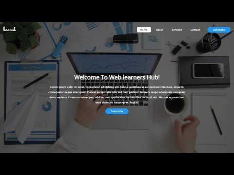 Responsive Landing Page Tutorial Using html and css | transparent | Flexbox | Web design development thumbnail
