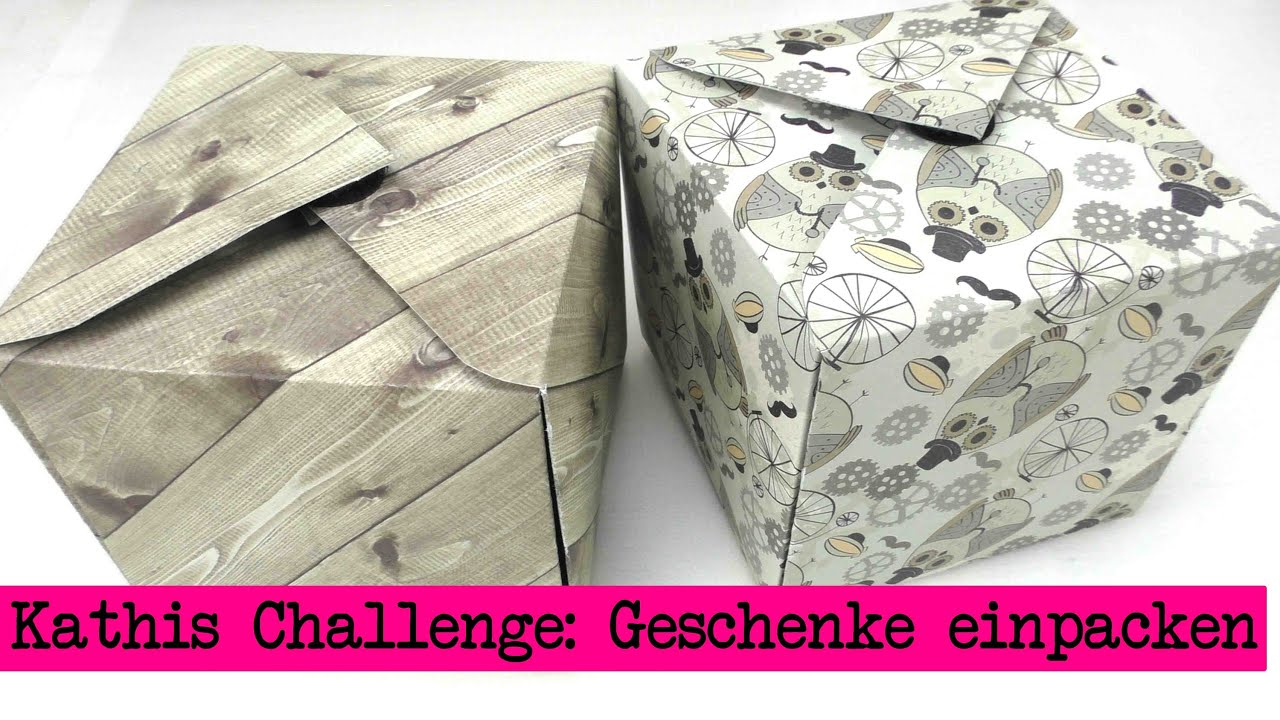 diy inspiration challenge 17 geschenke verpacken kathis challenge tutorial do it yourself. Black Bedroom Furniture Sets. Home Design Ideas