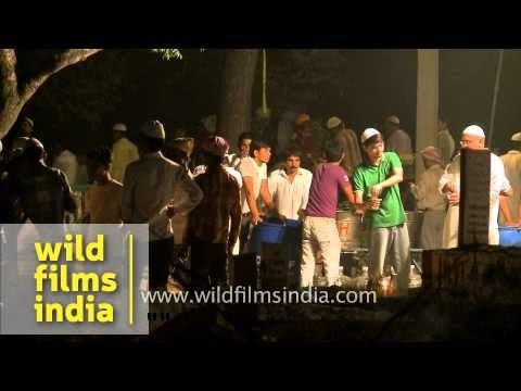 Muslim devotees gather on the eve of Shab-e-barat