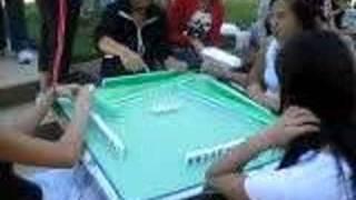 Chinese girls gambling (playing mahjong) =]