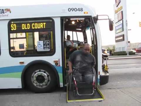 mta maryland new flyer wheelchair ramp deployment youtube