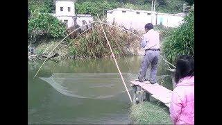 Риболовля на Сазана підйомником (Павуком) в Мікро річці