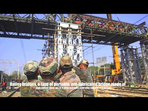 Elphinstone Foot Over Bridge constructed by army