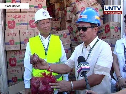 Tone-toneladang smuggled na sibuyas, nasabat ng Bureau of Customs sa Maynila
