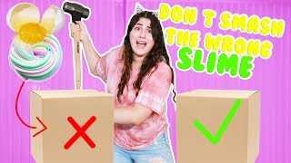 DON'T SMASH THE WRONG BOX ~ SLIME EDITION ~ EGG IN SLIME