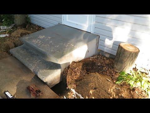 How To Raise A Sunken Concrete Step
