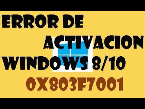 Error de activación de windows 8/10 I Error 0x803F7001 o 0xC004f014 I SOLUCION 2017