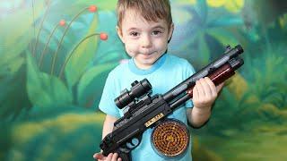 АК 868 класичний іграшковий пістолет зі світлом і звуком для поганих хлопчиків Розпакування та огляд на Богдана шоу