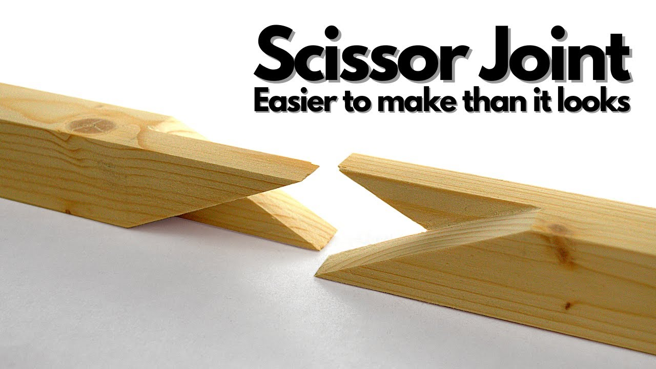 First time making a scissor joint | My expedition into woodworking joinery PART1