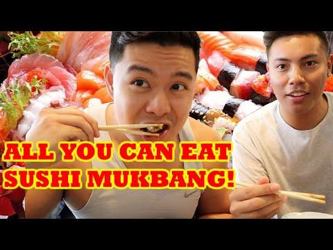 ALL YOU CAN EAT SASHIMI SUSHI MUKBANG! | Huntington Beach, California