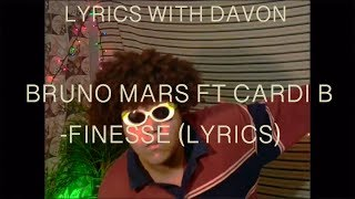 BRUNO MARS FT CARDI B - FINESSE (LYRICS)