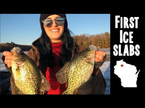 Early Ice Crappie Fishing And Fish Fry