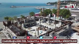 Zonguldak Merkez Camii İnşaatı Drone ile Görüntülendi...