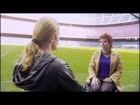 Ruby Wax awkwardly flirts with footballer Emmanuel Petit