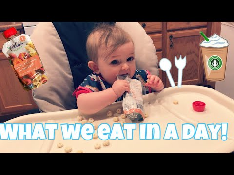 What We Eat in a Day | Breast feeding mom + 6 Month old thumbnail