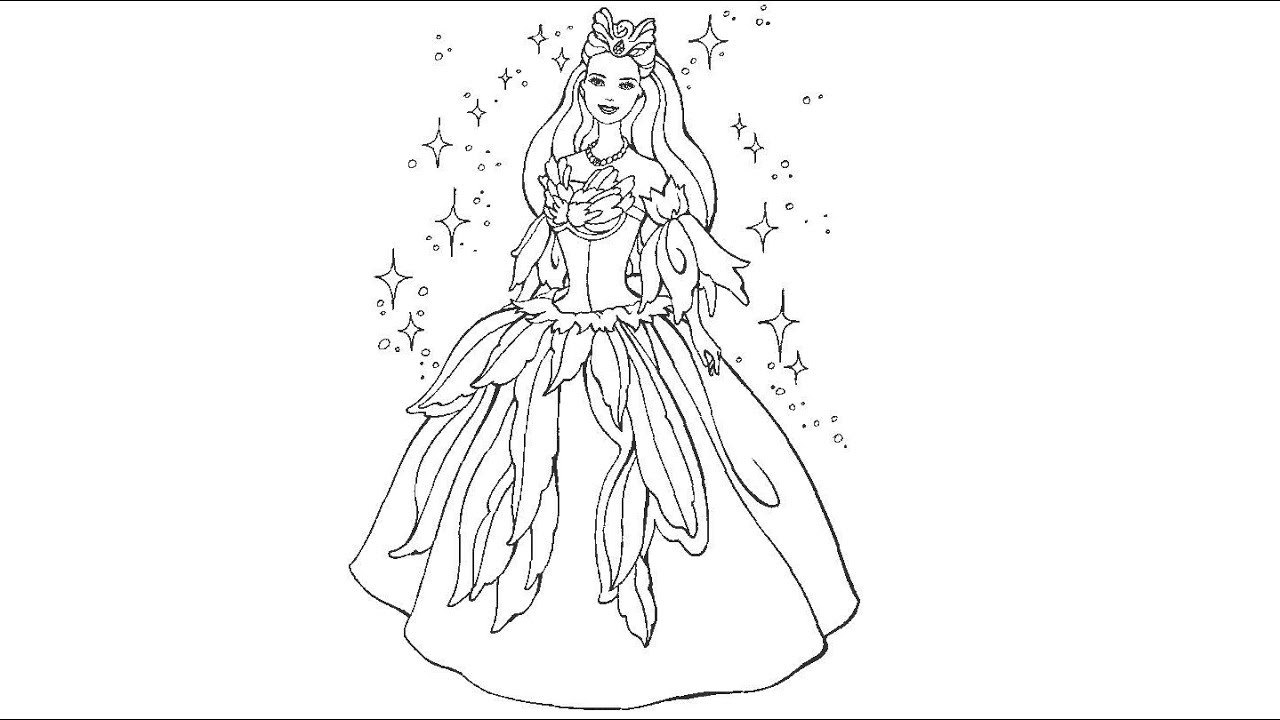learn colors l barbie princess pauffer coloring pages l videos for