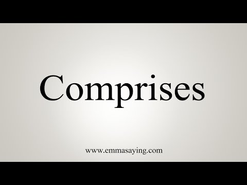 How To Say Comprises