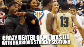 CRAZY HEATED GAME WITH HILARIOUS STUDENT SECTION!! | Langston Hughes vs Gainesville Was INTENSE