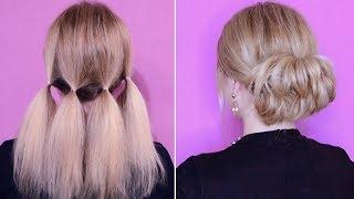 как сделать праздничную прическу на средние волосы себе