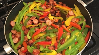 Delicious Sausage And Bell Pepper Stir Fry