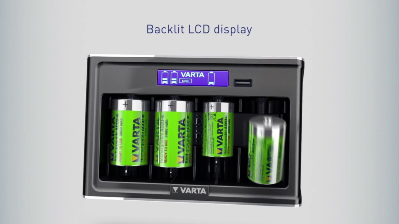 Lcd Universal Charger The Allrounder For All Common Sizes Varta Nicad By Ic Ca3140e