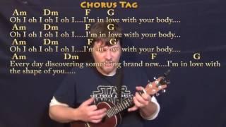 Скачать Shape Of You Ed Sheeran Ukulele Cover Lesson In Am With Chords Lyrics