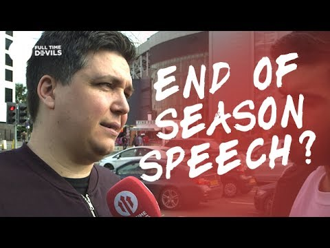 End Of Season Speech? | Manchester United 2-0 Crystal Palace | FANCAM