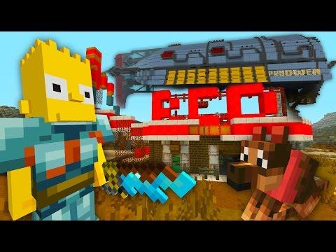 Bart Simpson Apocalypse | The Simpsons | Minecraft Xbox [52]