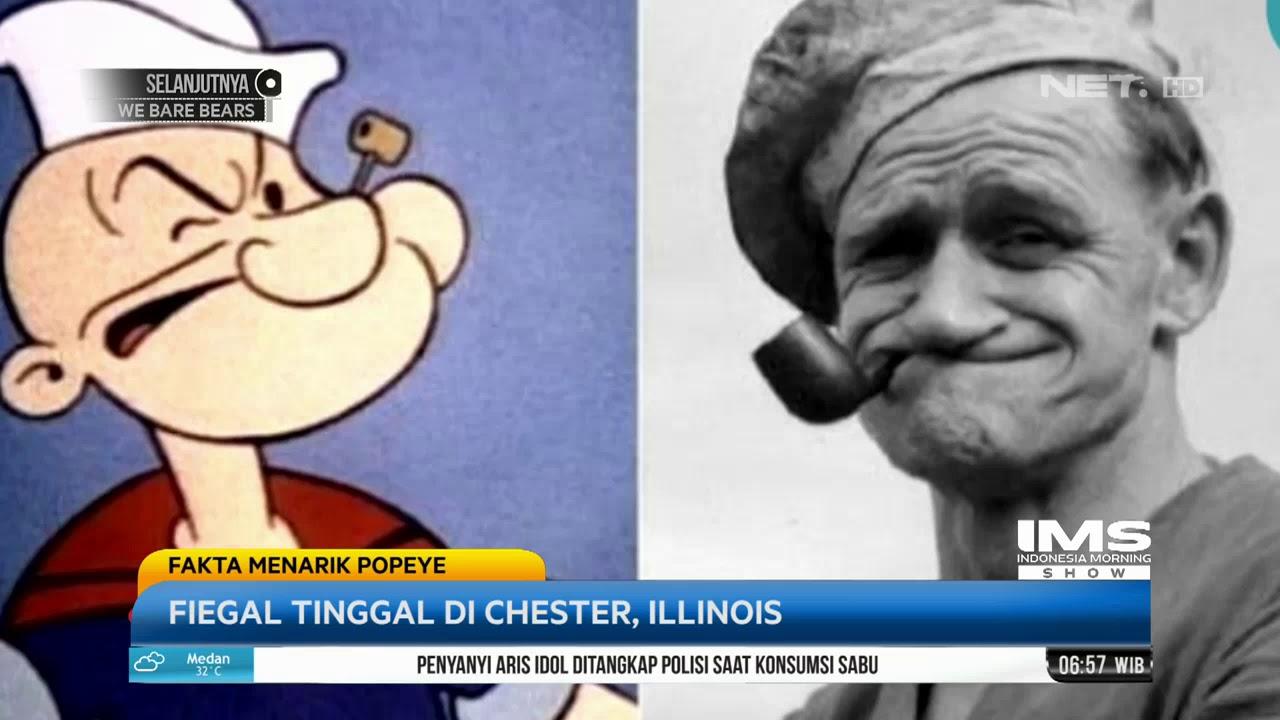 Karakter Popeye Terinspirasi Dari Seorang Pelaut Bernama Frank Fiegal